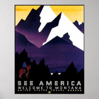Reproducción del poster de Montana del vintage