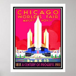 Reproducción del vintage de la feria de mundos de  posters