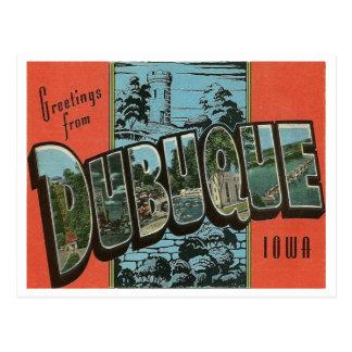 Reproducción Dubuque Iowa del vintage Tarjetas Postales