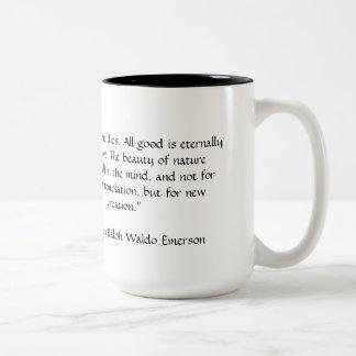 Reproducción eterna (taza) taza de café de dos colores