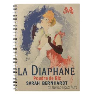 Reproducción La Diaphane de una publicidad de post Spiral Notebooks