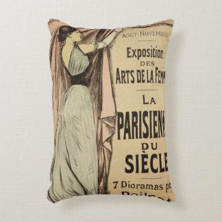 Reproducción La Parisienn de una publicidad de Cojín Decorativo
