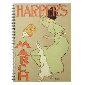 Reproducción mag de Harper de una publicidad de po Libros De Apuntes