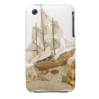 Reproducción miniatura del azote del pirata con iPhone 3 Case-Mate protectores