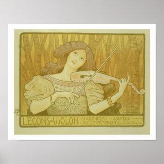 Reproducción violín Lesso de una publicidad de pos