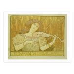 Reproducción violín Lesso de una publicidad de pos Postal