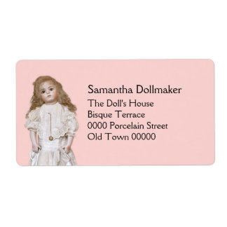 Reproduction antique doll label