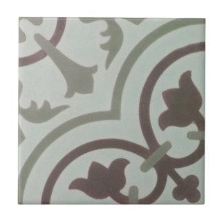 Reproduction Encaustic Cement Tile on Ceramic