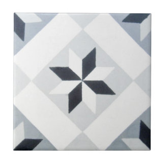 Reproduction Encaustic Cement Tile on Ceramic