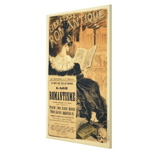 Reproduction of a poster advertising a book entitl stretched canvas prints