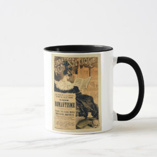 Reproduction of a poster advertising a book entitl mug