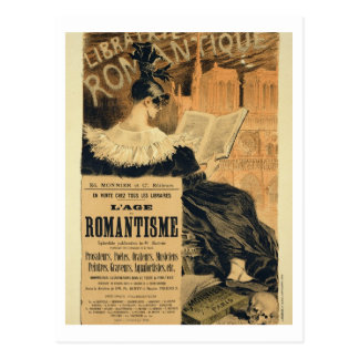 Reproduction of a poster advertising a book entitl postcard
