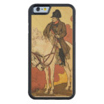 Reproduction of a poster advertising 'A New Life o Carved® Maple iPhone 6 Bumper