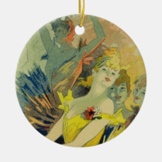 Reproduction of a poster advertising 'Back-Stage a Ceramic Ornament