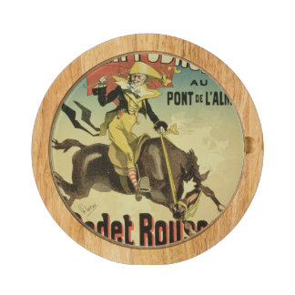 Reproduction of a poster advertising 'Cadet Rousse Cheese Platter