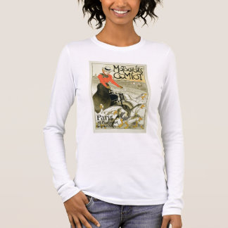 Reproduction of a Poster Advertising Comiot Motorc Long Sleeve T-Shirt