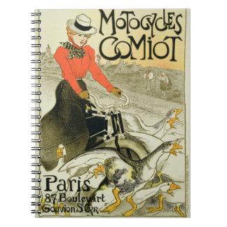 Reproduction of a Poster Advertising Comiot Motorc Spiral Notebook