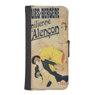Reproduction of a poster advertising 'Emile d'Alen iPhone SE/5/5s Wallet Case