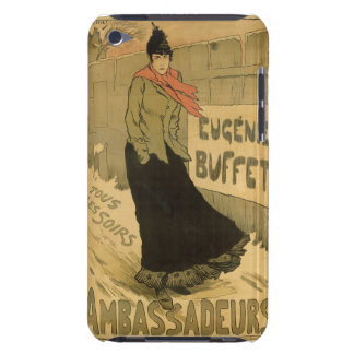 Reproduction of a poster advertising 'Eugenie Buff Barely There iPod Case