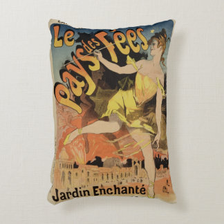 Reproduction of a poster advertising 'Fairyland, T Accent Pillow