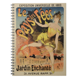 Reproduction of a poster advertising 'Fairyland, T Spiral Notebook