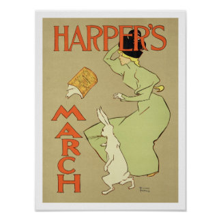 Reproduction of a poster advertising 'Harper's Mag