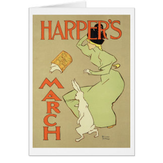 Reproduction of a poster advertising 'Harper's Mag Greeting Card