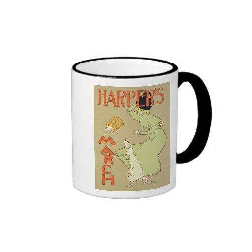 Reproduction of a poster advertising 'Harper's Mag Mug