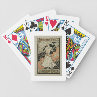 Reproduction of a poster advertising 'Joan of Arc' Bicycle Playing Cards