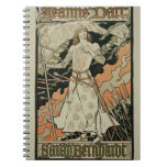Reproduction of a poster advertising 'Joan of Arc' Notebook