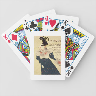 Reproduction of a poster advertising 'La Revue Bla Bicycle Playing Cards