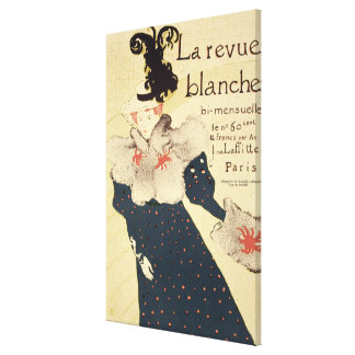 Reproduction of a poster advertising 'La Revue Bla Canvas Print