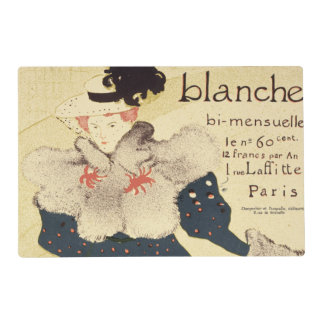 Reproduction of a poster advertising 'La Revue Bla Placemat