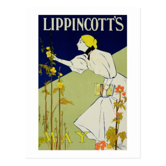 Reproduction of a poster advertising 'Lippincott's Postcard