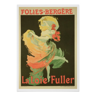 Reproduction of a Poster Advertising 'Loie Fuller'