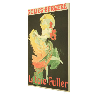 Reproduction of a Poster Advertising 'Loie Fuller' Canvas Print