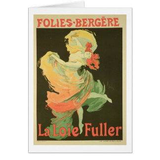 Reproduction of a Poster Advertising Loie Fuller Greeting Cards