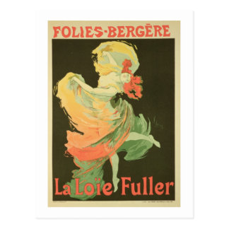 Reproduction of a Poster Advertising 'Loie Fuller' Postcard