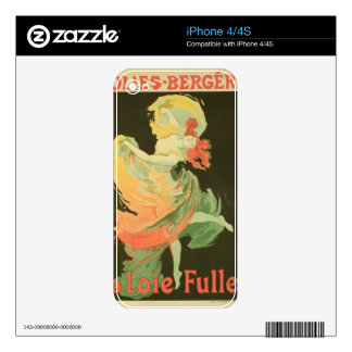 Reproduction of a Poster Advertising 'Loie Fuller' Skins For iPhone 4