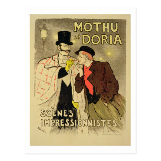 Reproduction of a poster advertising 'Mothu and Do Postcard