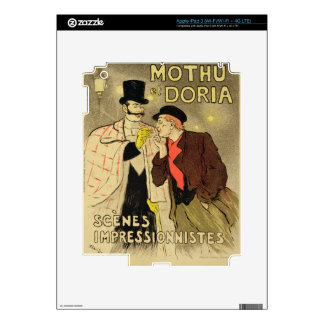 Reproduction of a poster advertising 'Mothu and Do Skins For iPad 3