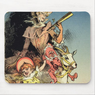 Reproduction of a poster advertising 'New Year Gif Mouse Pad
