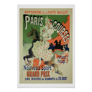 Reproduction of a poster advertising 'Paris Course