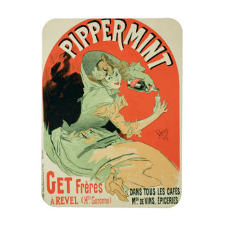 Reproduction of a poster advertising 'Pippermint', Magnet