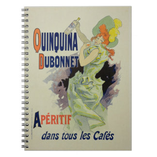 Reproduction of a poster advertising 'Quinquina Du Spiral Note Book