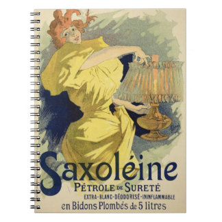 Reproduction of a poster advertising 'Saxoleine', Spiral Note Books