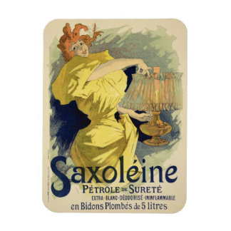 Reproduction of a poster advertising 'Saxoleine', Rectangular Photo Magnet