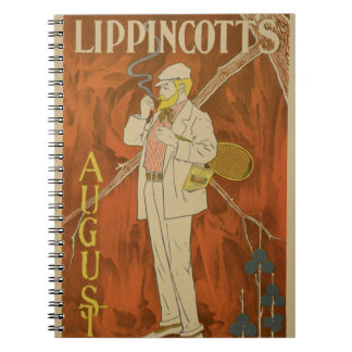 Reproduction of a poster advertising the August Is Spiral Notebook