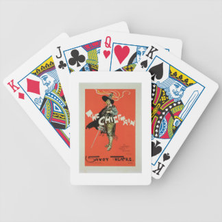 Reproduction of a poster advertising 'The Chieftai Bicycle Playing Cards