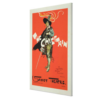Reproduction of a poster advertising 'The Chieftai Canvas Print